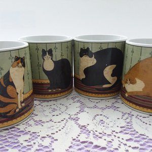 Cat Collection Warren Kimble Coffee Cups